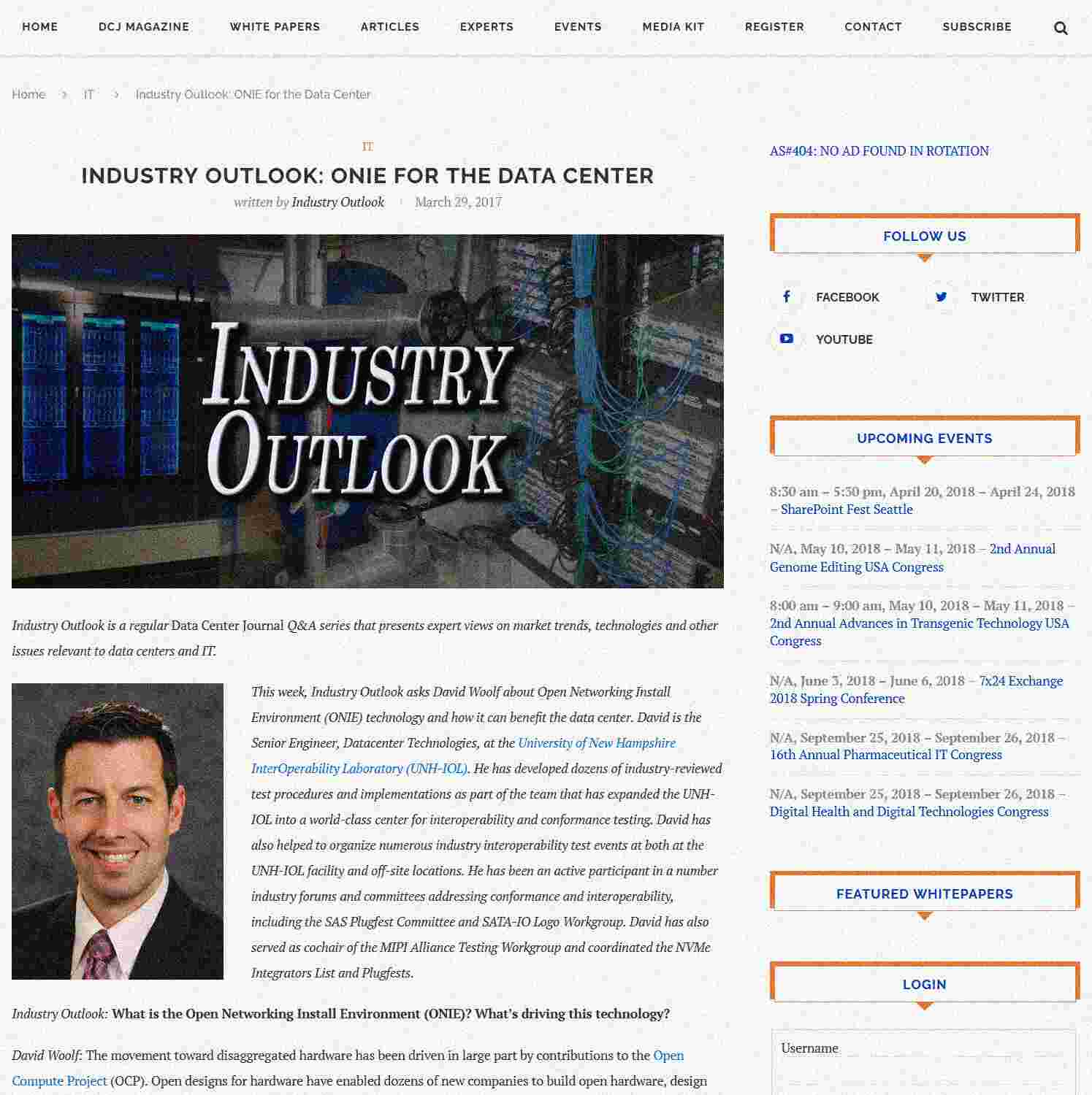 Illustration of Industry Outlook: ONIE for the Data Center